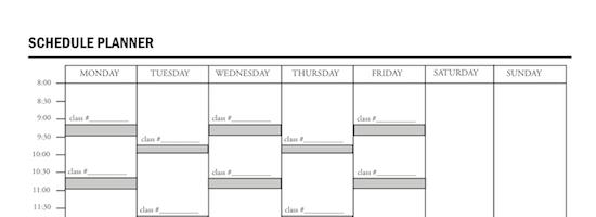Class Schedule – Class Schedule